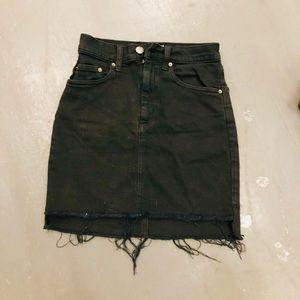 Arizia black denim skirt